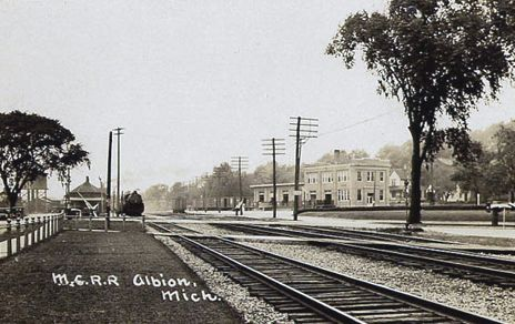 MC Albion Station and downtown